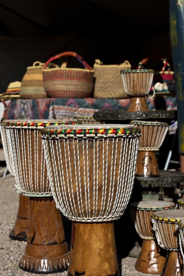 非洲艺术村庄工艺在图森 免版税库存图片