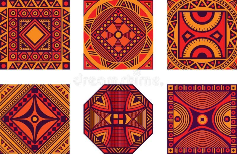非洲装饰品集 向量例证