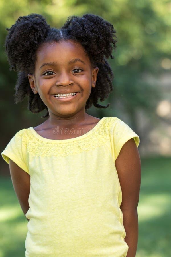 非洲裔美国人的女孩一点 图库摄影