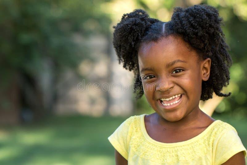 非洲裔美国人的女孩一点 库存图片