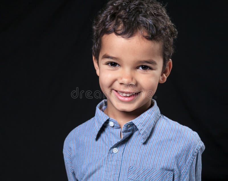 非洲裔美国人的男孩逗人喜爱的小的纵向 库存图片