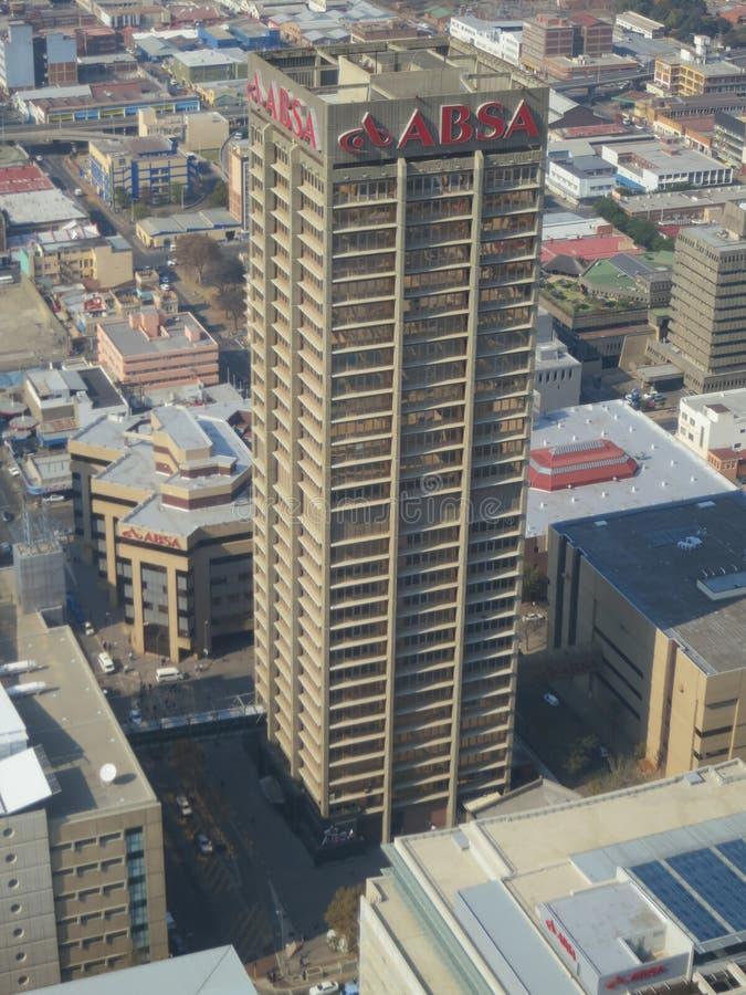 非洲视图上面,约翰内斯堡,南非 免版税库存图片