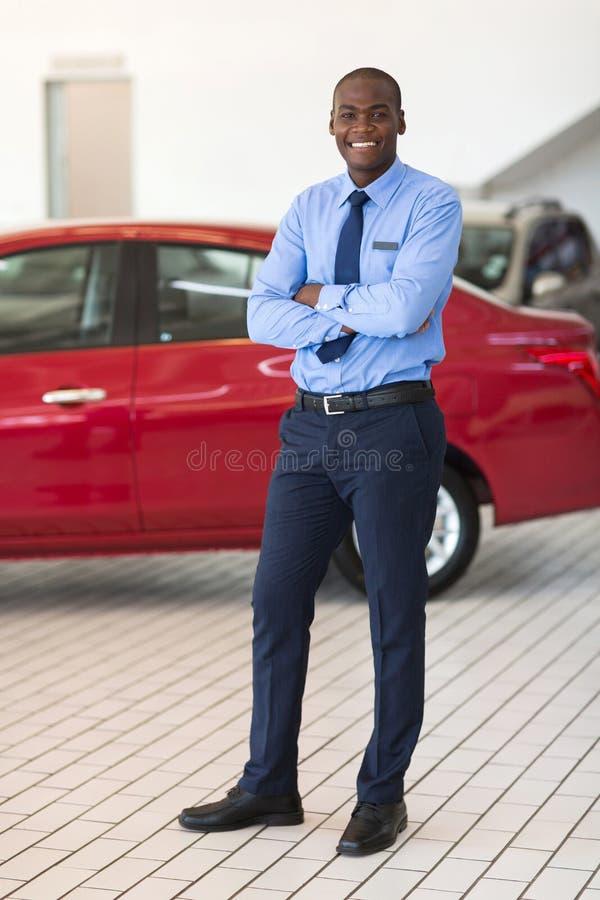 非洲车推销员 库存照片
