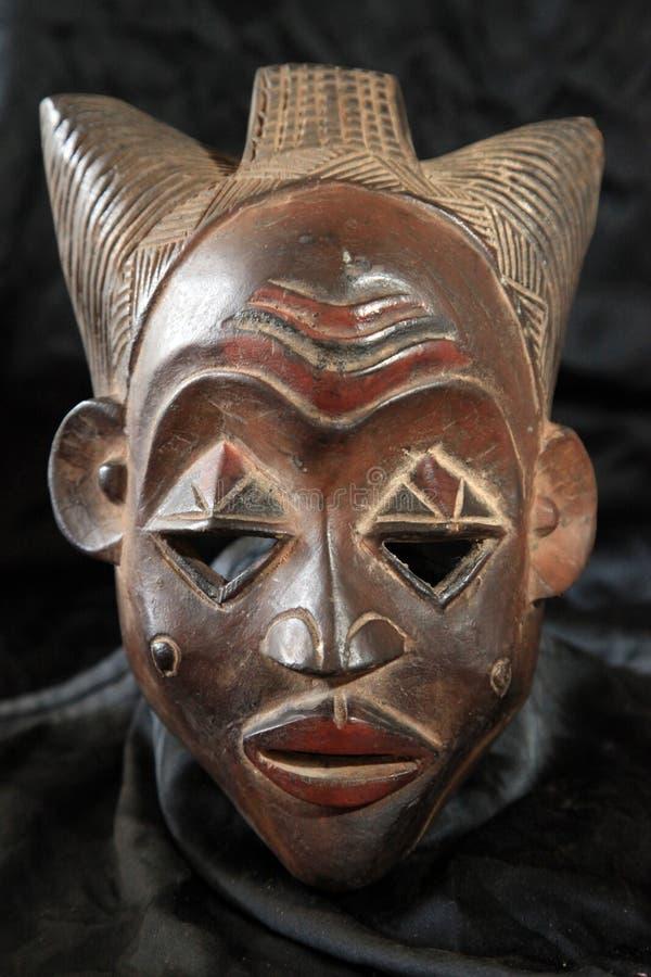 非洲部族面具-卢巴人部落 库存图片