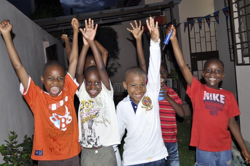 非洲青年时期喜悦  库存照片