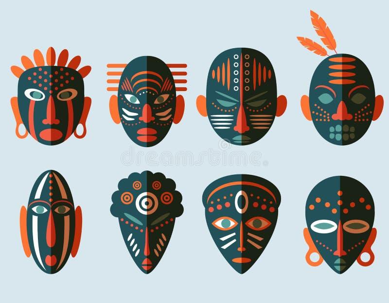 非洲面具象 向量例证