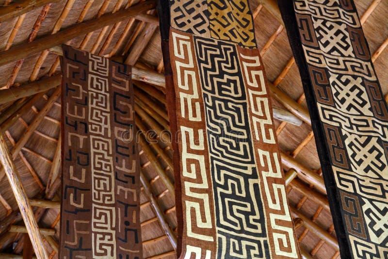 非洲主题的织品横幅 免版税库存照片