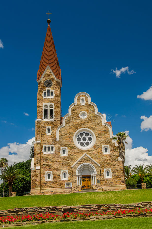 非洲风景-温得和克纳米比亚 免版税库存照片