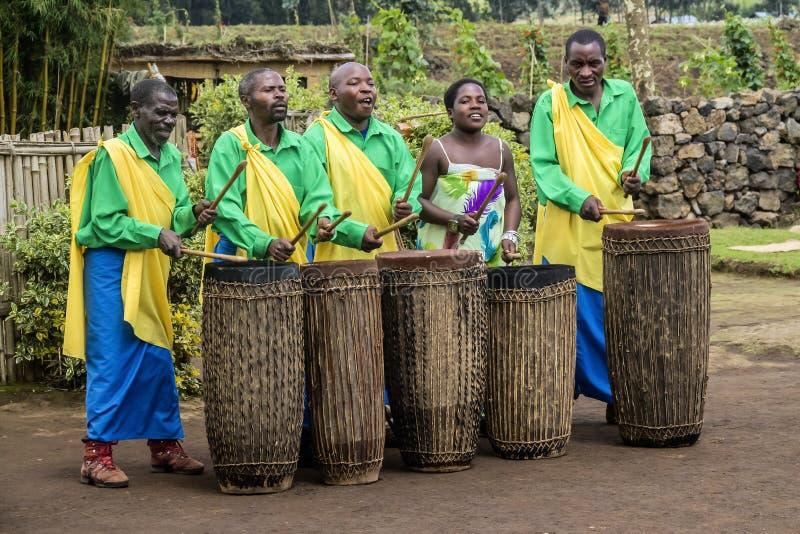 非洲鼓手 库存照片