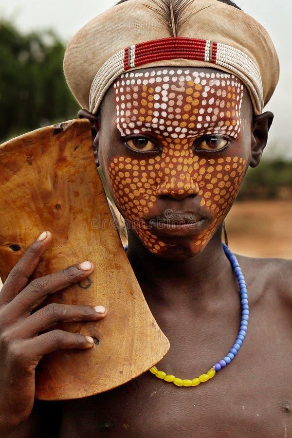 非洲,南埃塞俄比亚, Arbore部落 图库摄影