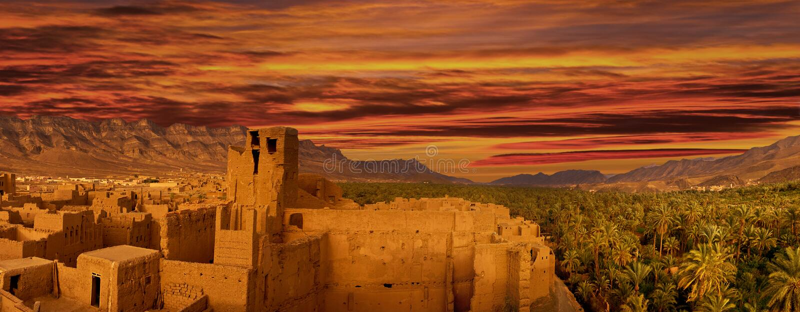 非洲,摩洛哥的北部的城市 库存图片