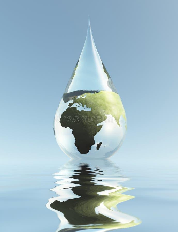 非洲水 向量例证