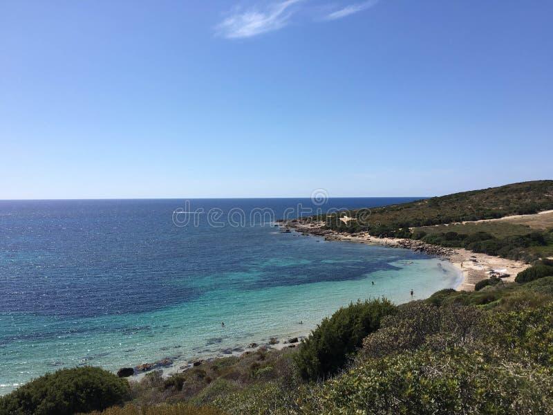 靠岸在圣彼得罗,撒丁岛-意大利海岛上  免版税库存照片