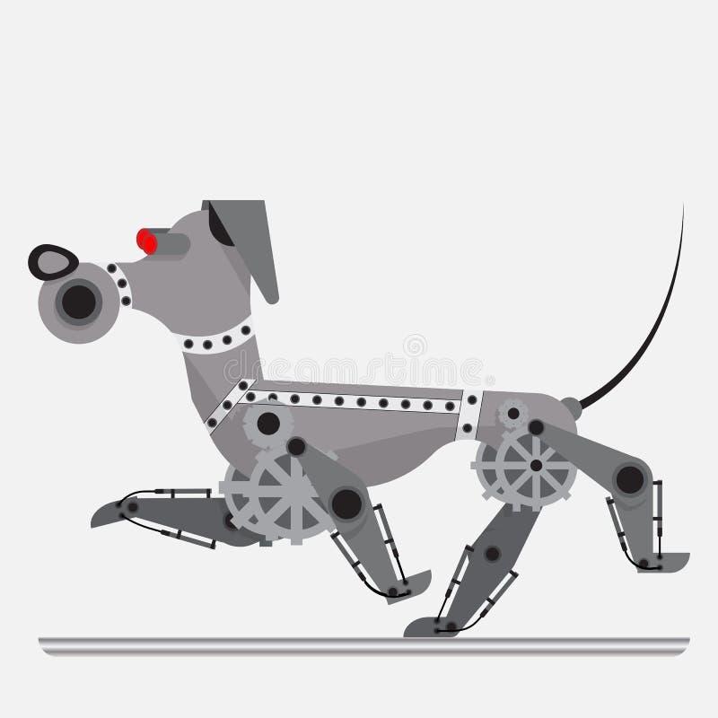 靠机械装置维持生命的人狗 电子的助手 库存照片
