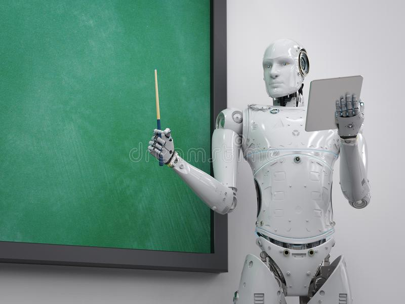 靠机械装置维持生命的人老师或讲师 库存例证