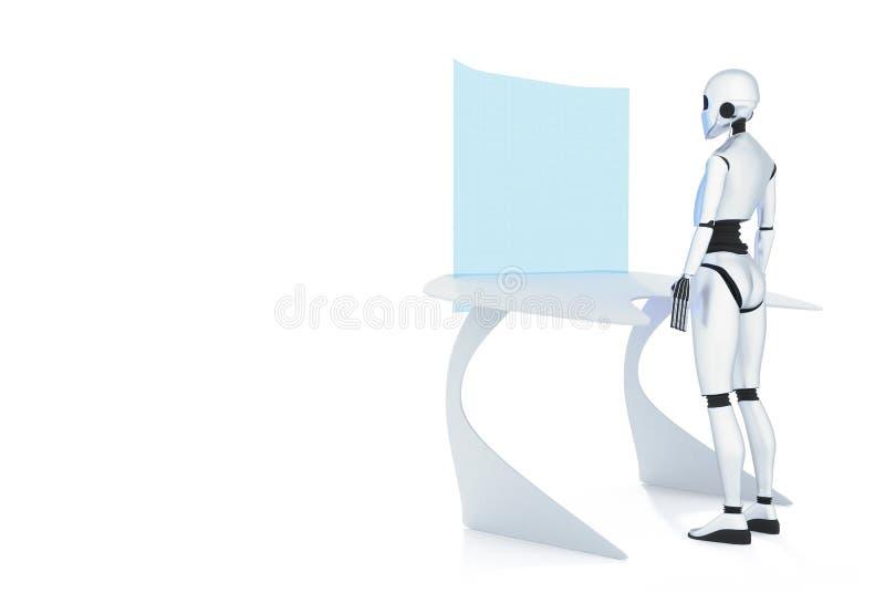 靠机械装置维持生命的人 向量例证