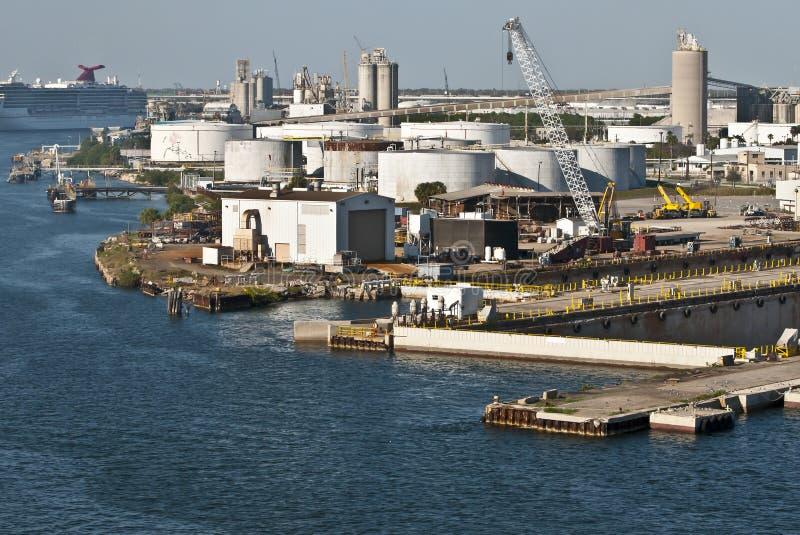 靠码头设施端口坦帕 免版税库存图片