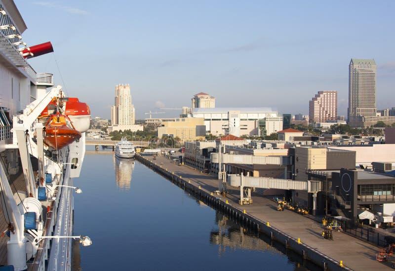 靠码头在坦帕 库存照片