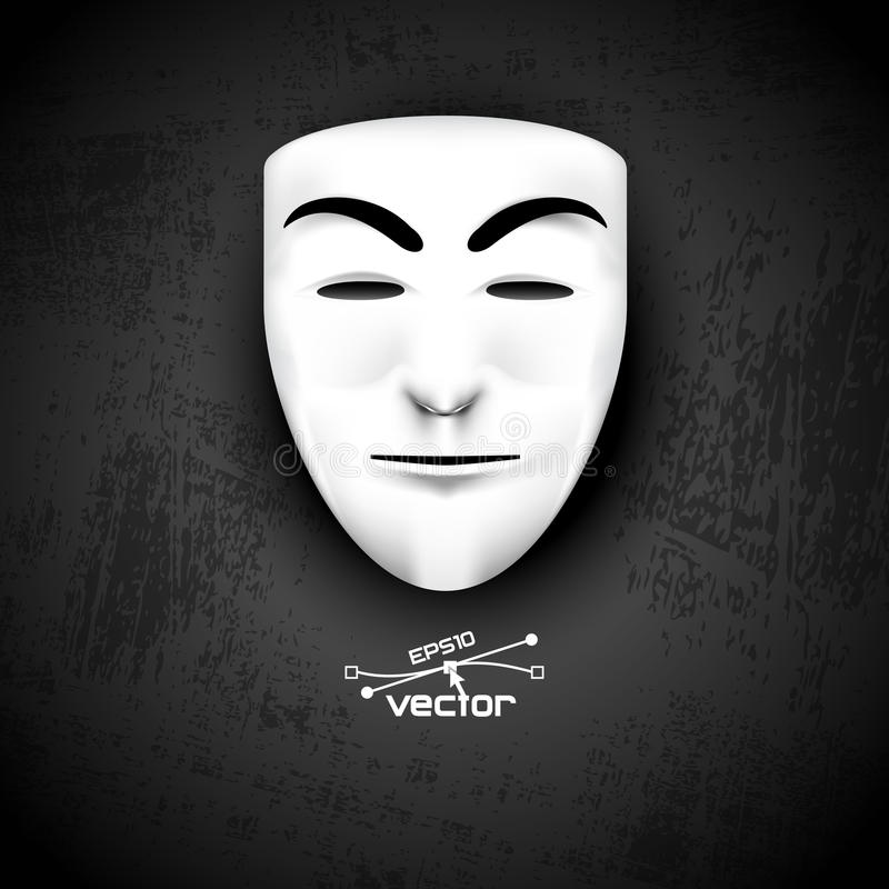面具匿名在黑色 向量例证