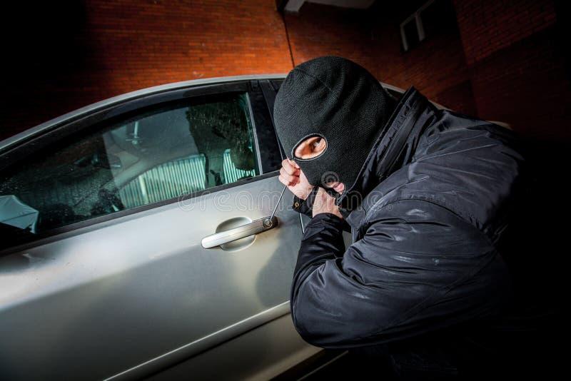 面具的偷车贼 免版税库存图片