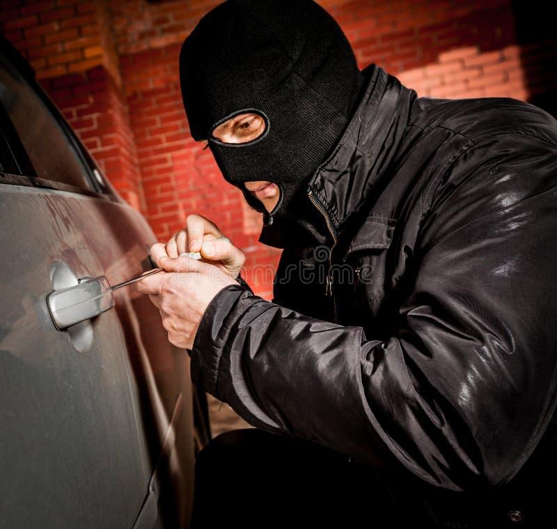 面具的偷车贼 库存图片