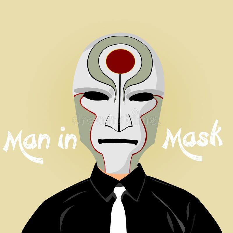 面具设计例证的人 图库摄影