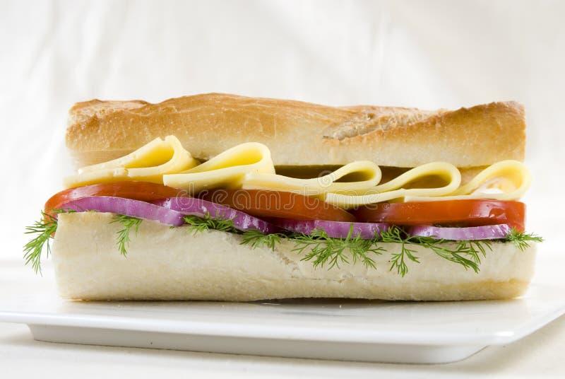 面包三明治白色 库存图片