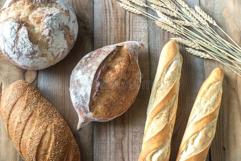面包不同的种类 免版税库存图片