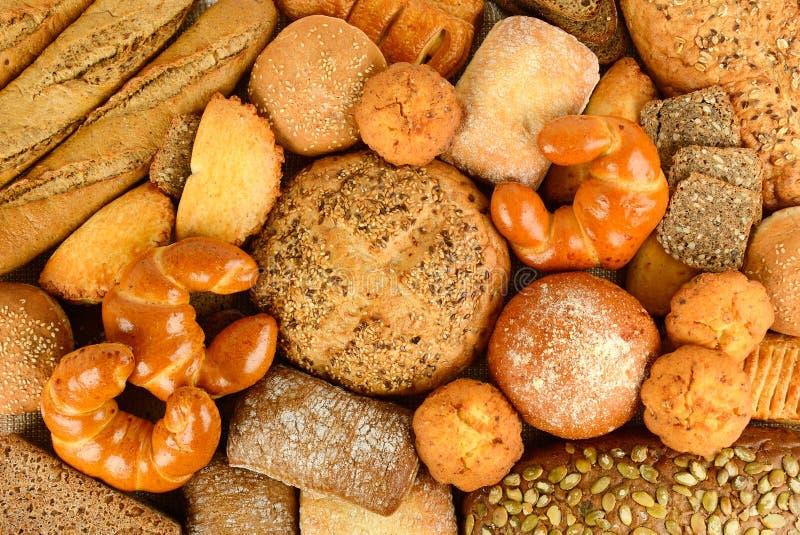 面包产品小圆面包,长方形宝石,谷物面包, muf的汇集 库存图片