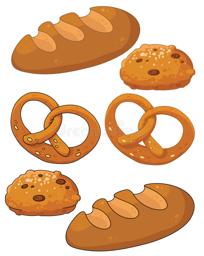 面包产品 向量例证