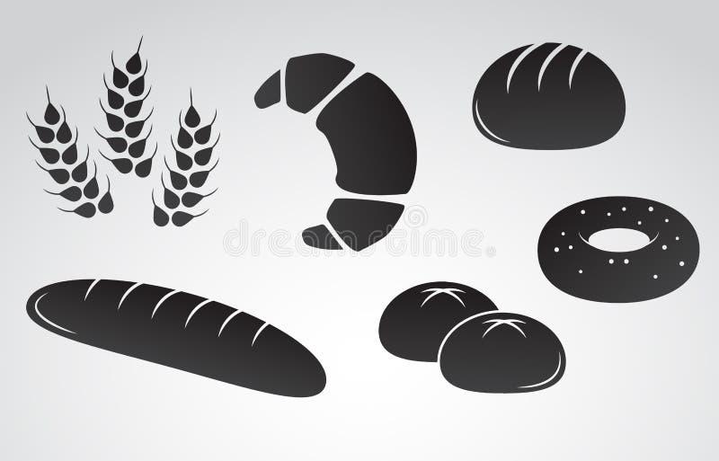 面包传染媒介象集合 库存图片