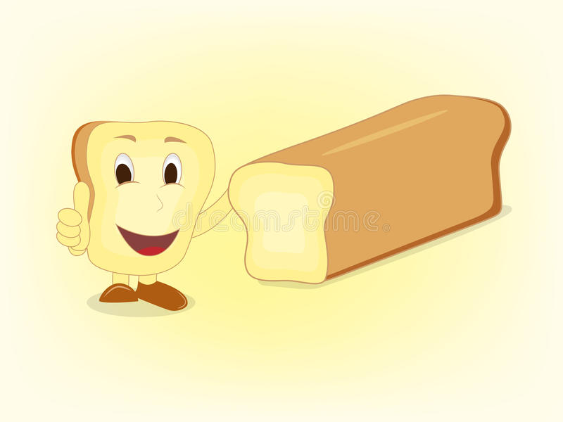面包切片动画片赞许 免版税库存照片