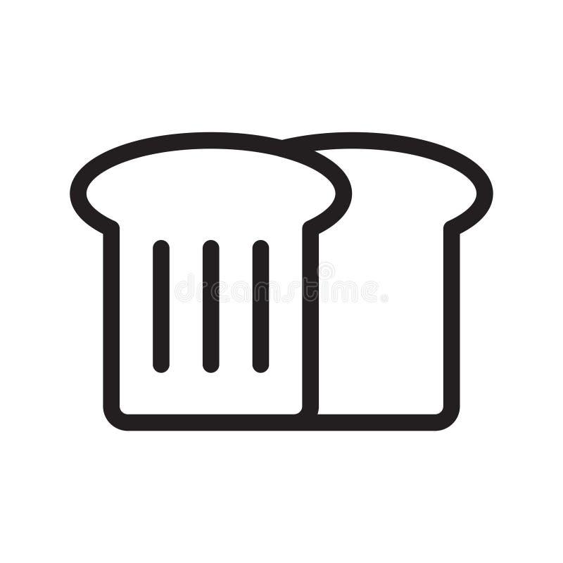 面包切片稀薄的线传染媒介象 向量例证