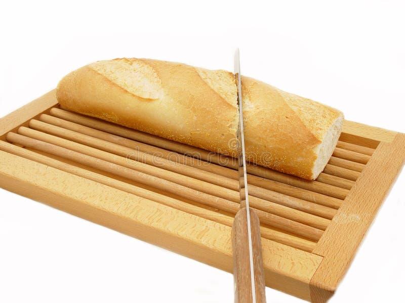 面包剪切 库存图片