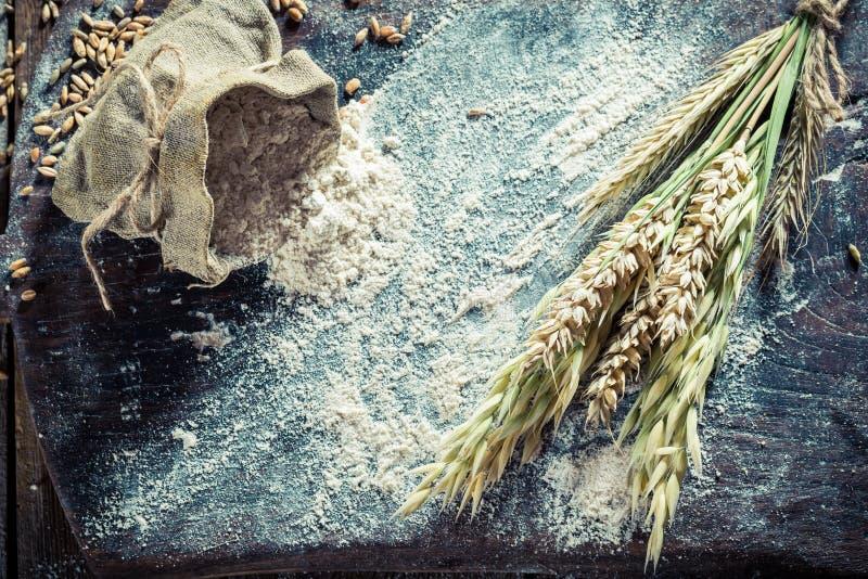 面包和小圆面包的自创成份与几五谷 库存图片
