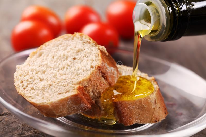 面包和油 库存照片
