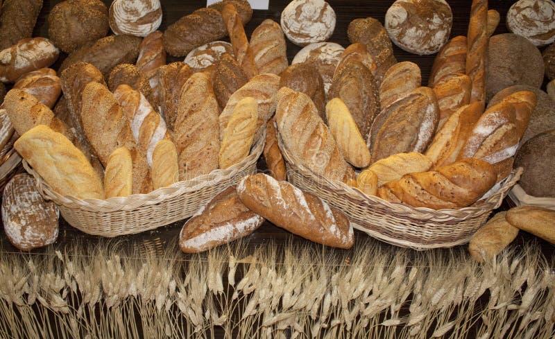 面包和麦子 库存照片