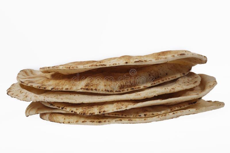面包堆pita 免版税库存图片