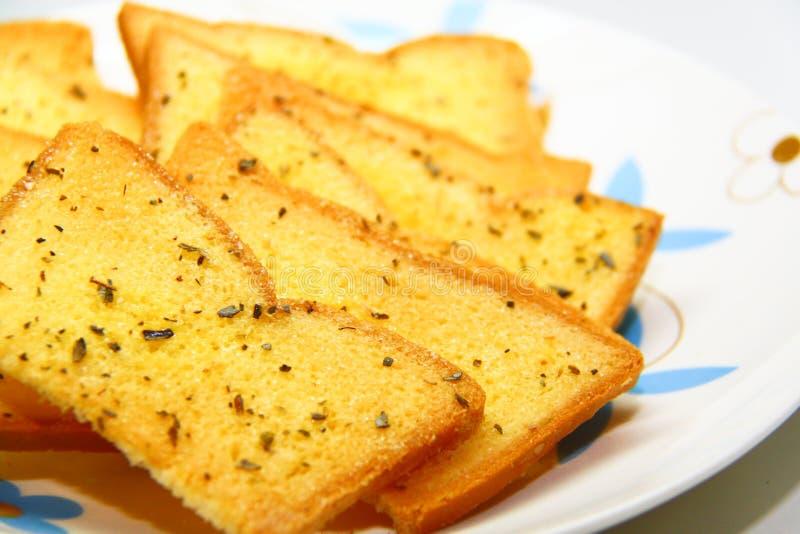 面包大蒜草本 库存照片