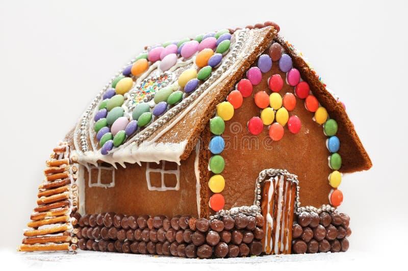 面包姜房子 免版税库存图片