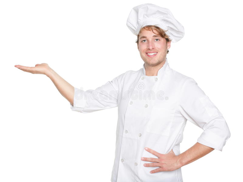 面包师主厨厨师查出显示 免版税库存照片