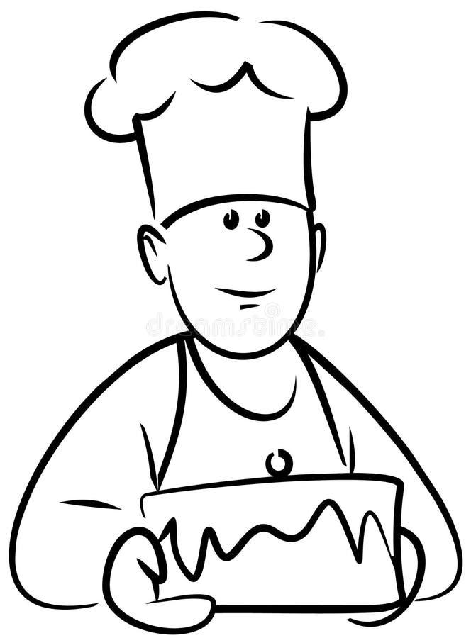 面包师向量 皇族释放例证