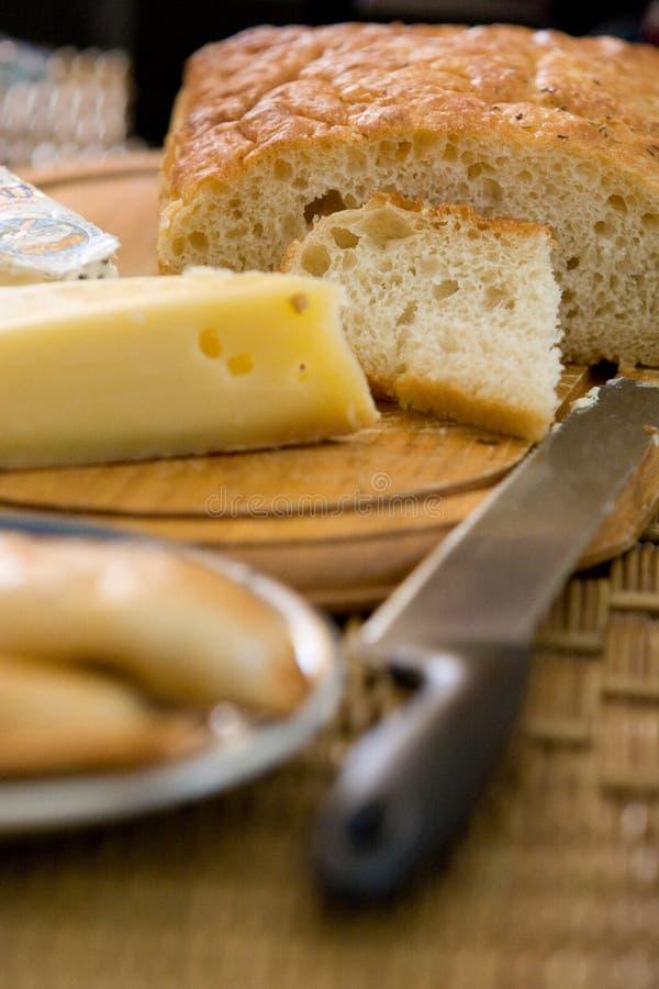 面包干酪 库存图片