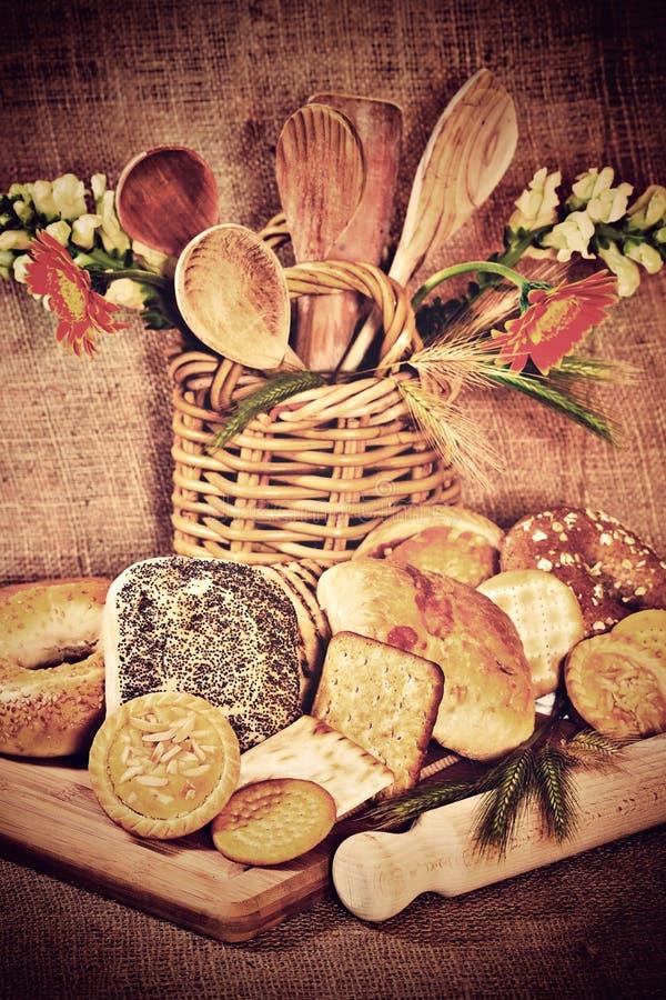 面包店产品的分类 库存照片