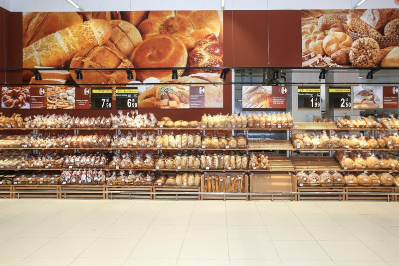 面包店区 库存图片