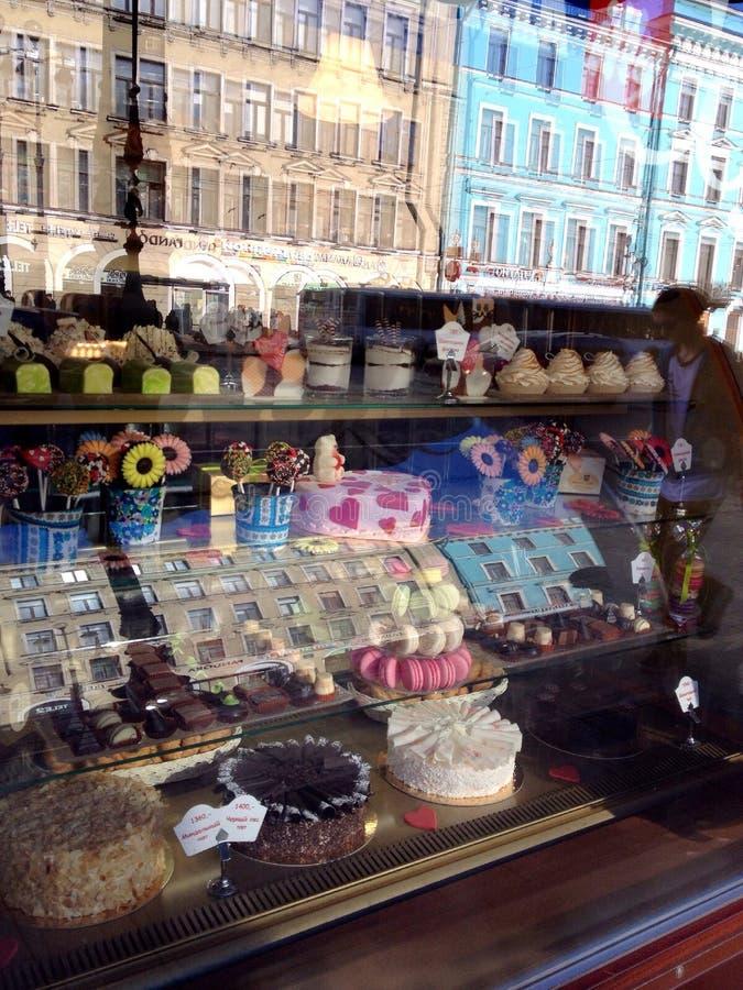 面包店商店窗口 免版税库存照片