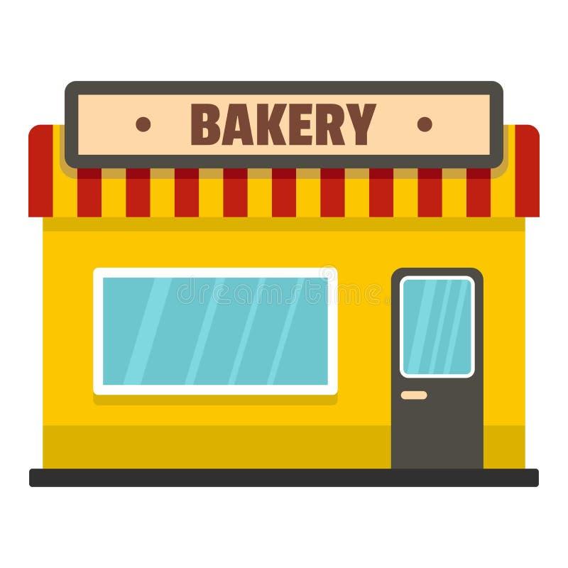 面包店商店象,平的样式 向量例证