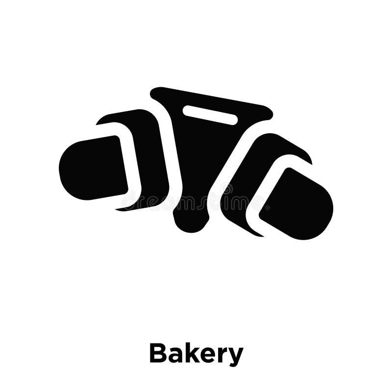 面包店在白色背景隔绝的象传染媒介,商标概念  库存例证