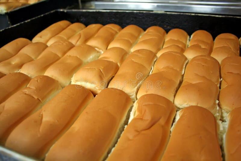 面包店小圆面包 免版税库存图片