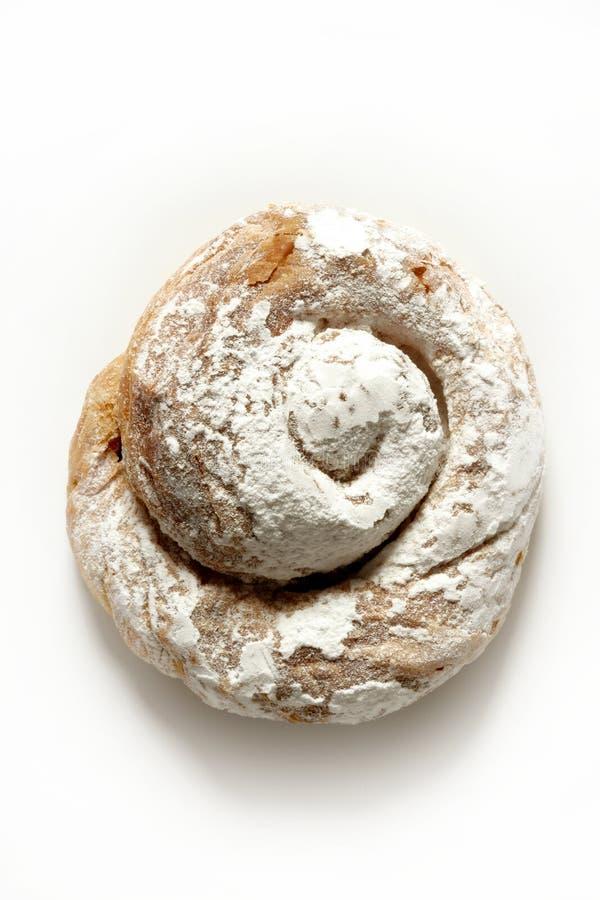 面包店早餐蛋糕典型ensaimada的甜点 免版税库存照片